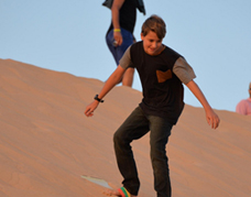 San boarding in the desert