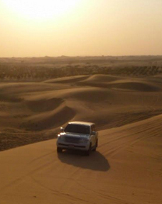 Land cruiser duen bashing in the desert
