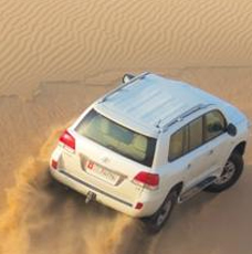 High speed dune bashing in the desert