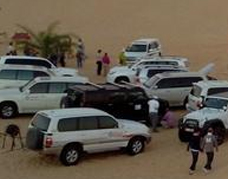 Land cruiser parking in the desert
